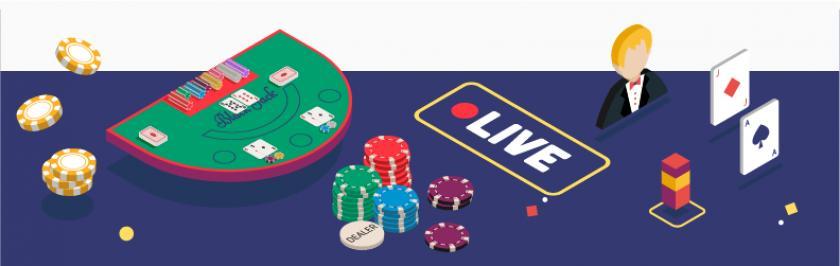 jouer sur une table de blackjack en direct